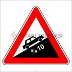 PF1219 - Tehlikeli Eğim (Çıkış) Trafik Levhası