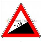 PF1221 - Tehlikeli Eğim (Çıkış) Trafik Levhası