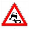 PF1237 - Kaygan Yol Trafik Levhası