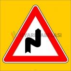PF1212 - Sağa Tehlikeli Devamlı Virajlar Trafik Levhası