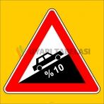 PF1220 - Tehlikeli Eğim (Çıkış) Trafik Levhası