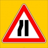 PF1226 - Soldan Daralan Kaplama (Yol) Trafik Levhası