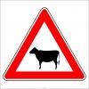 PF1251 - Ehli Hayvanlar Geçebilir Trafik Levhası
