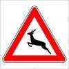 PF1254 - Vahşi Hayvanlar Geçebilir Trafik Levhası