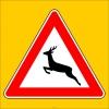 PF1253 - Vahşi Hayvanlar Geçebilir Trafik Levhası