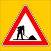 PF1256 - Yolda Çalışma Var Trafik Levhası