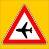 PF1259 - Havalimanı (Alçak Uçuş) Trafik Levhası