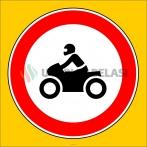 PF1307 - Motosiklet Giremez Trafik Levhası