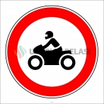 PF1308 - Motosiklet Giremez Trafik Levhası