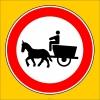 PF1323 - At Arabası Giremez Trafik Levhası