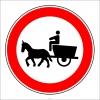 PF1324 - At Arabası Giremez Trafik Levhası