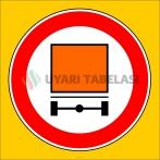 PF1332 - Tehlikeli Madde Taşıyan Taşıt Giremez Trafik Levhası