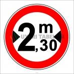 PF1340 - Genişliği X Metreden (Bize Bildirin) Fazla Olan Taşıt Giremez Trafik Levhası