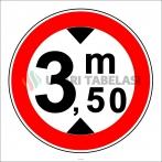 PF1341 - Yüksekliği X Metreden (Bize Bildirin) Fazla Olan Taşıt Giremez Trafik Levhası