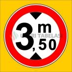 PF1342 - Yüksekliği X Metreden (Bize Bildirin) Fazla Olan Taşıt Giremez Trafik Levhası