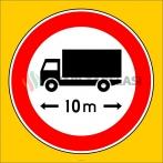 PF1343 - Uzunluğu X Metreden (Bize Bildirin) Fazla Olan Taşıt Giremez Trafik Levhası