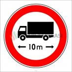 PF1344 - Uzunluğu X Metreden (Bize Bildirin) Fazla Olan Taşıt Giremez Trafik Levhası