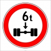 PF1345 - Dingil Başına X Tondan (Bize Bildirin) Fazla Yük Düşen Taşıt Giremez Trafik Levhası