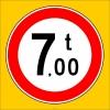 PF1347 - Yüklü Ağırlığı X Tondan (Bize Bildirin) Fazla Olan Taşıt Giremez Trafik Levhası