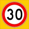 PF1376 - Azami Hız Sınırlaması 30 km Trafik Levhası