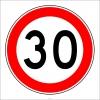 PF1377 - Azami Hız Sınırlaması 30 km Trafik Levhası