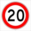 PF1378 - Azami Hız Sınırlaması 20 km Trafik Levhası