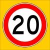 PF1379 - Azami Hız Sınırlaması 20 km Trafik Levhası