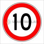 PF1381 - Azami Hız Sınırlaması 10 km Trafik Levhası