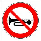 PF1364 - Sesli İkaz Cihazlarının Kullanımı Yasaktır Trafik Levhası