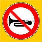 PF1363 - Sesli İkaz Cihazlarının Kullanımı Yasaktır Trafik Levhası