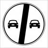 PF1371 - Geçme Yasağı Sonu Trafik Levhası