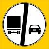 PF1373 - Kamyonlar İçin Geçme Yasağı Sonu Trafik Levhası