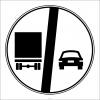 PF1374 - Kamyonlar İçin Geçme Yasağı Sonu Trafik Levhası