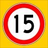 PF1384 - Azami Hız Sınırlaması 15 km Trafik Levhası