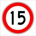PF1385 - Azami Hız Sınırlaması 15 km Trafik Levhası