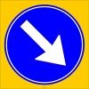 PF1406 - Sağdan Gidiniz Trafik Levhası
