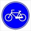 PF1415 - Mecburi Bisiklet Yolu Trafik Levhası