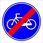 PF1416 - Mecburi Bisiklet Yolu Sonu Trafik Levhası