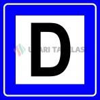 PF1459 - Durak Trafik Levhası