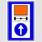 PF1436 - Tehlikeli Madde Taşıyan Taşıtların İzleyecekleri Mecburi Yön Trafik Levhası