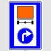 PF1437 - Tehlikeli Madde Taşıyan Taşıtların İzleyecekleri Mecburi Yön Trafik Levhası
