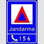 PF1461 - Alo 156 Jandarma İhbar Hattı Trafik Levhası