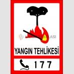 PF1463 - Alo 177 Orman Yangını İhbar Hattı Trafik Levhası