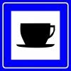 PF1470 - Çayhane veya Kafeterya Trafik Levhası