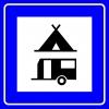 PF1476 - Çadırlı ve Karavanlı Kamp Yeri Trafik Levhası