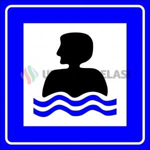 PF1483 - Yüzme Yeri Trafik Levhası