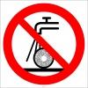 PF1517 - Sulu Taşlama Yapmak Yasaktır İşareti/Levhası/Etiketi