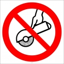 PF1518 - Taşlama Yapmak Yasaktır İşareti/Levhası/Etiketi