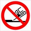 PF1519 - Yandan Taşlama Yapmak Yasaktır İşareti/Levhası/Etiketi
