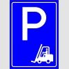 PF1532 - Forklift Park Yeri Levhası